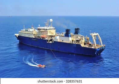 An offshore vessel to support oil and gas exploration