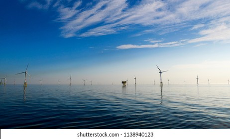 Offshore wind Farm North Sea Perfect weather