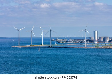 Offshore windfarm near Copenhagen, Denmark
