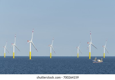 Offshore windpark near Bremerhaven, Germany