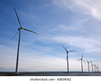 Ofshore wind park turbines