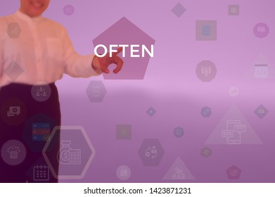 OFTEN - business concept presented by businessman