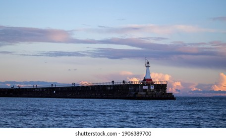 Ogden Point Lighthouse Victoria, British Columbia, Canada January 25, 2021