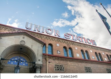 Ogden Utah USA-August 28, 2018: Union station building in ogden utah which is a travel destination and local landmark