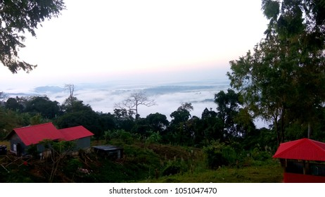 oggy mountain landscape in Bangladesh