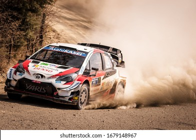 Sébastien Ogier (FRA) of team Toyota Gazoo Racing WRT in Shakedown during the FIA World Rally Championship Mexico in León, Guanajuato, México on March 12, 2020
