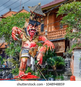Ogoh-Ogoh, demon statue made for Ngrupuk parade conducted on the eve of Nyepi day. Square image.