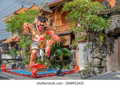 Ogoh-Ogoh, demon statue made for Ngrupuk parade conducted on the eve of Nyepi day.