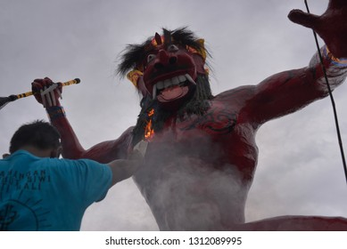 Ogoh-ogoh is a sculpture in Balinese culture that portrays Bhuta Kala's personality. In the teachings of Hindu Dharma, Bhuta Kala represents the power (Bhu) of the universe and time (Kala) which are i