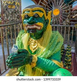 Ogre King at Mandalay Hill, Myanmar