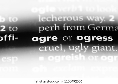 ogre word in a dictionary. ogre concept.