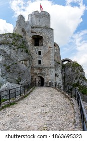 Ogrodzieniec Castle in south-central Poland
