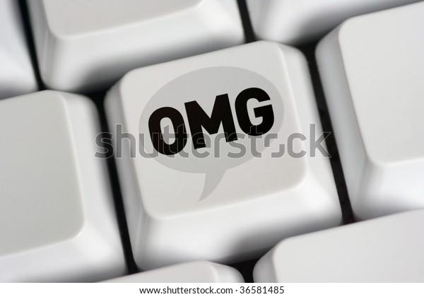 oh my god - on computer keyboard key