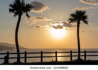 Ohama Beach with Sunset at Amami Oshima, Kagoshima, Japan