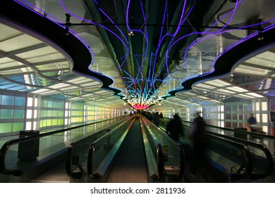 O'Hare Airport, Chicago moving sidewalks