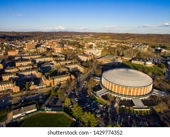 Ohio University from above during spring.