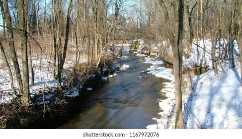 Ohio Winter Icy Creek