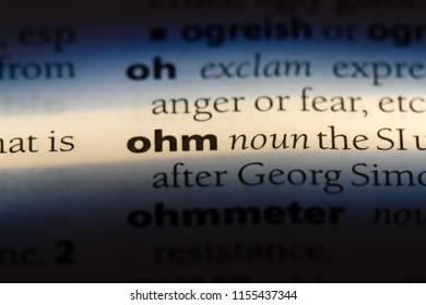 ohm word in a dictionary. ohm concept.