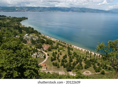 Ohrid lake general view
