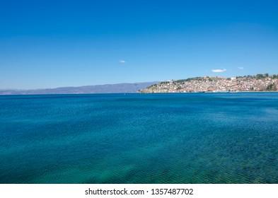 Ohrid Lake - Macedonia - view toward Ohrid city