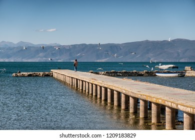 Ohrid lakeside landing, Macedonia