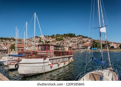 Ohrid lakeside landing in Macedonia