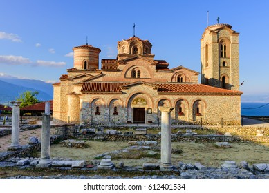 Ohrid - Macedonia. Church of Saints Clement and Panteleimon monastery at sunrise in Ohrid, Macedonia.