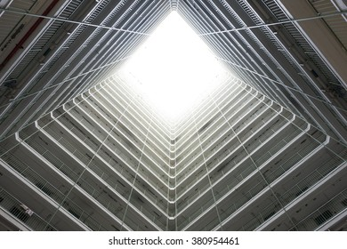 In Oi Man Estate building center look up