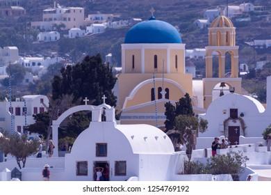 Oia Santorini Greece August 28 2018 Oia view Churches