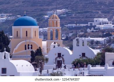 Oia Santorini Greece August 28 2018 Oia view Church