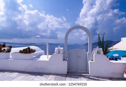 Oia Santorini Greece August 28 2018 Oia view