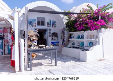 Oia Santorini Greece August 28 2018 Oia view shops