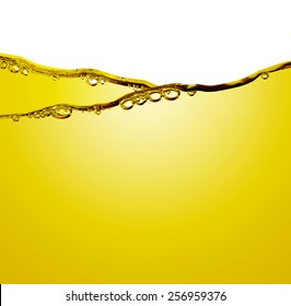 Oil with air bubbles at the white background.
