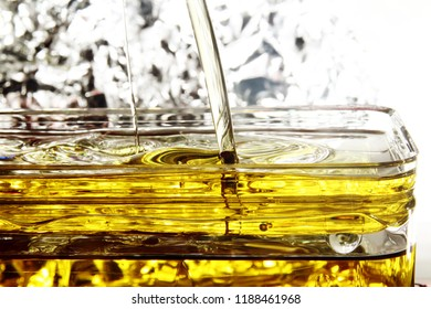 Oil background / Cooking oil is plant, animal, or synthetic fat used in frying, baking, and other types of cooking.