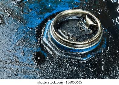 Oil barrel background , fuel tank background