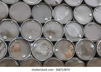 Oil barrels background texture