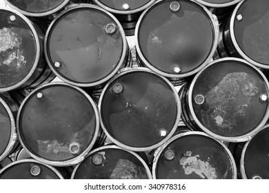 oil barrels,mono tone