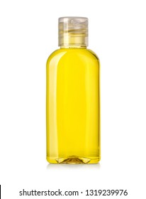 Oil bottle isolated on a over white background with clipping path