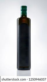 Oil bottle isolated on white background