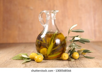 oil bottle and olive branch