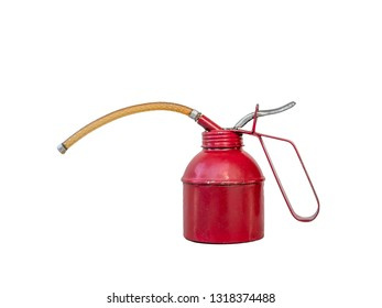 oil can on white background.