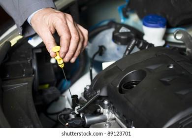 Oil change at the car shop