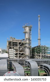 Oil and Chemical plant with blue sky