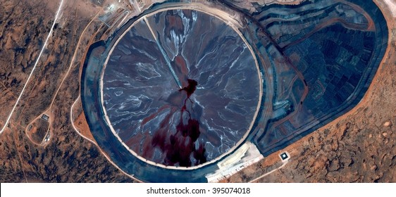 Oil clock overwhelmed by the wind,abstract photography of the deserts of Australia from the air, bird's eye view, abstract expressionism, contemporary art, optical illusions,