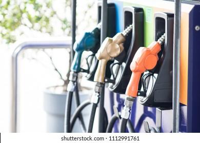 Oil dispenser at Pump Station Self fueling