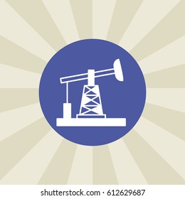 oil drilling icon. sign design. background