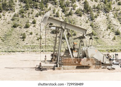 Oil drilling well, northern Utah. USA