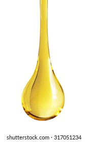 oil drop isolate on white background