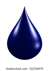 oil droplet isolated on white background. 3d render