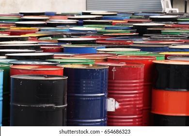 oil drum waste